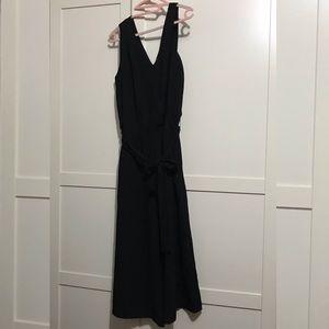 Black V neck jumpsuit Loft Outlet Ann Taylor